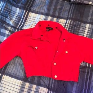 red jean jacket from forever 21